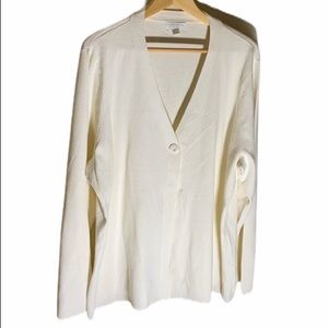 Charter Club Cream Colored long Sleeve Cardigan